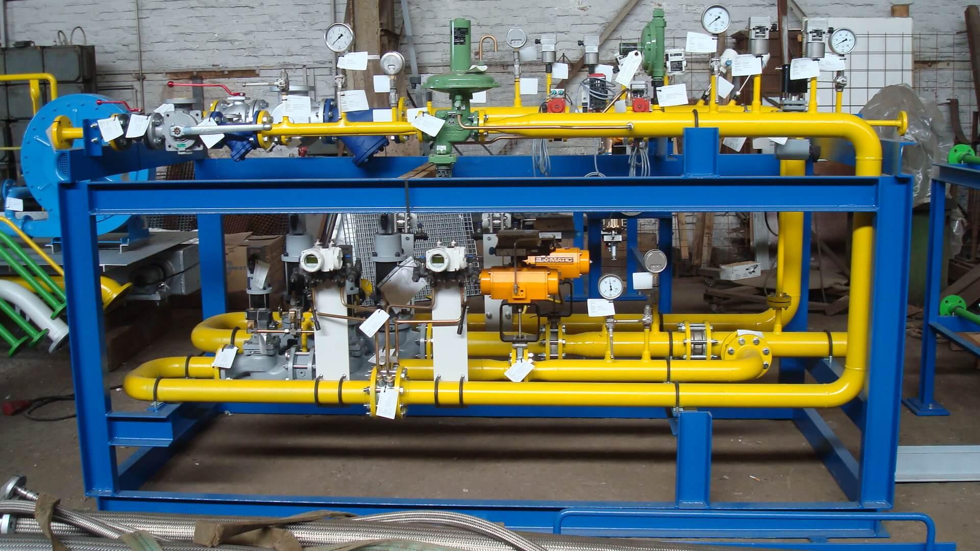 Brennstoffversorgung, Armaturen und Regelstrecken